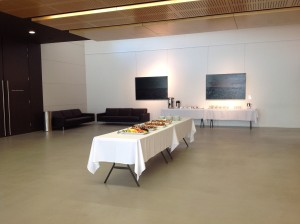 Downstairs Foyer set up for Catering
