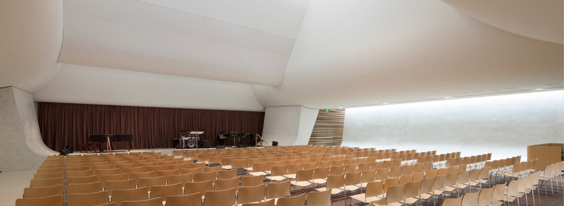 Auditorium in concert seating style
